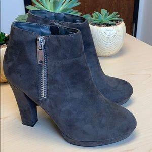 Juicy Couture Los Angeles dark gray boots sz 7.5